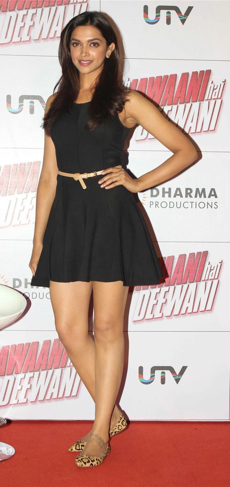 Deepika Padukone in black color gown