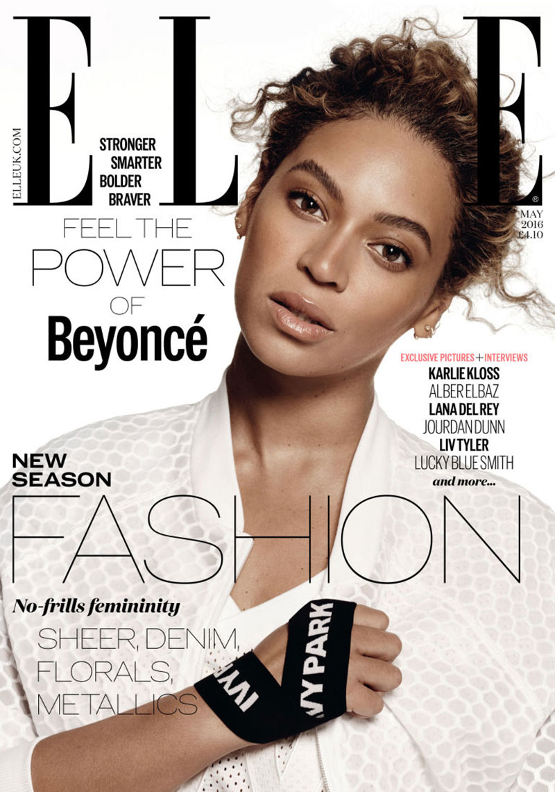 Beyonce shows curves for Elle May 2016