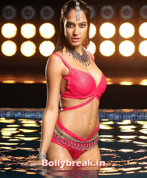 Lisa Haydon in Rascals, Bollywood Actresses in Pink bikini - 2014, 2013, 2012