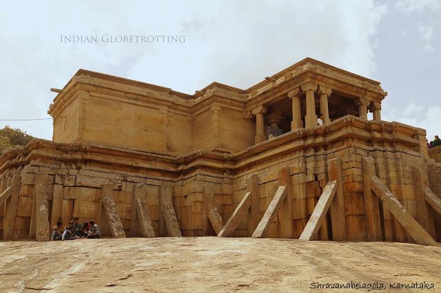 Odegal Basadi jain temple in Shhravanabelagola