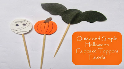 How to make Halloween cupcake toppers