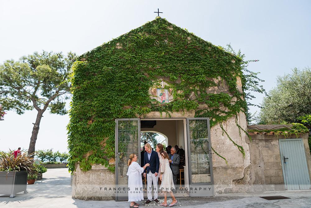 Congratulations outside San Pietro chapel