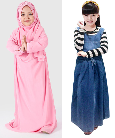 model baju long dress anak