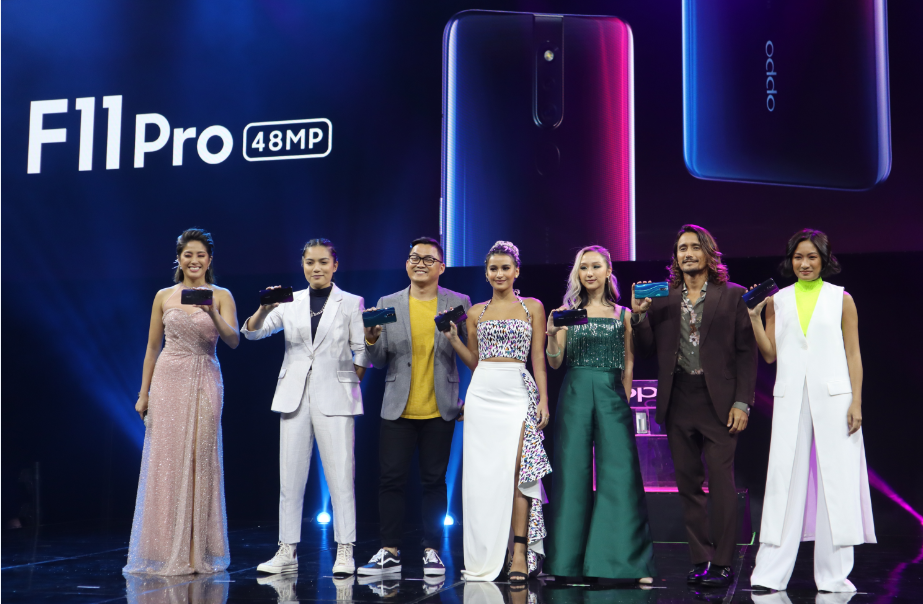 The ambassadors of OPPO F11 Pro together with Gretchen Ho