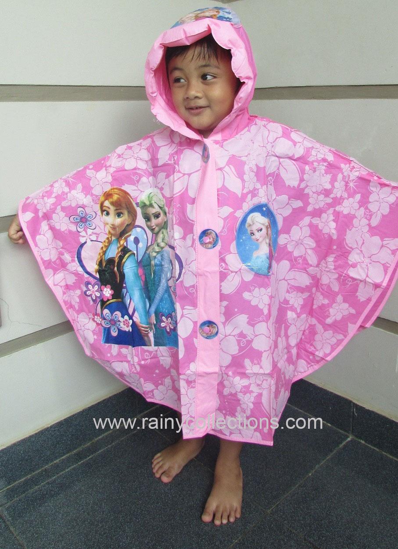 Rainy Collections Jas Hujan Karakter Anak Ujan Setelan Frozen