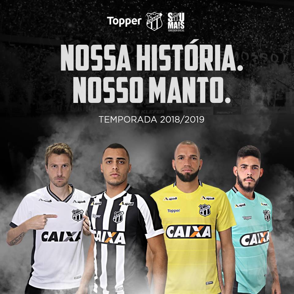 2b44e8d0ae Topper apresenta uniformes do Ceará 2018-2019