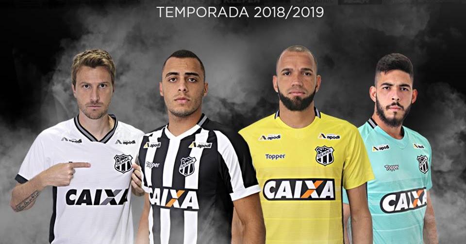 de777af119 Topper apresenta uniformes do Ceará 2018-2019