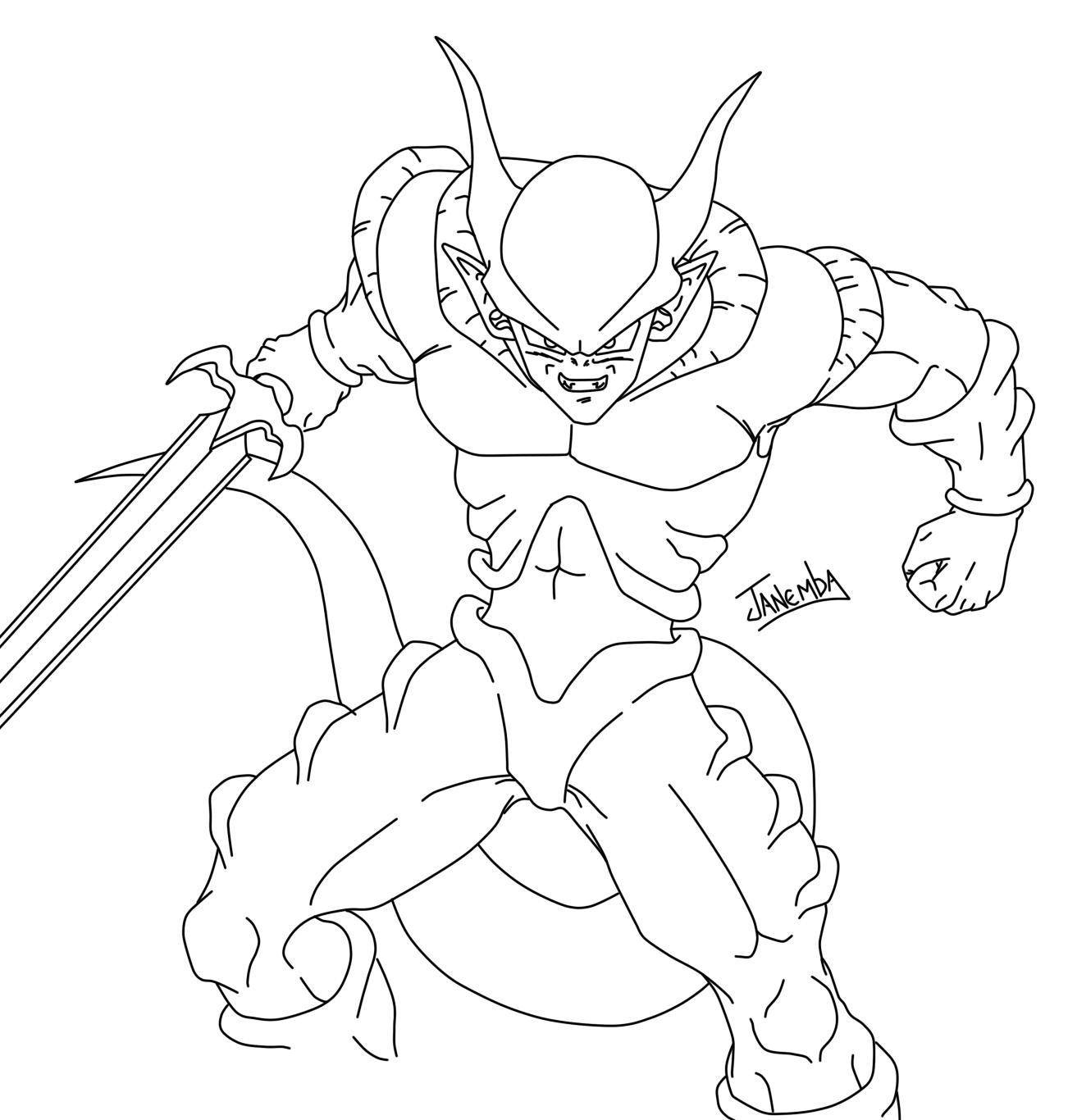 Super Saiyan 2 Gohan Kleurplaten Fan Art Coloriage Dragon Ball Z Sangohan Super Saiyan 2 Z ...