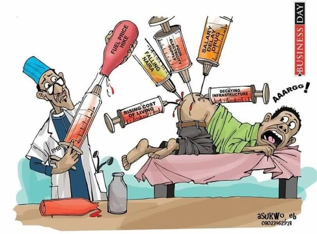Pictorial Reality of Deadly Therapies Buhari Offering To Nigerians