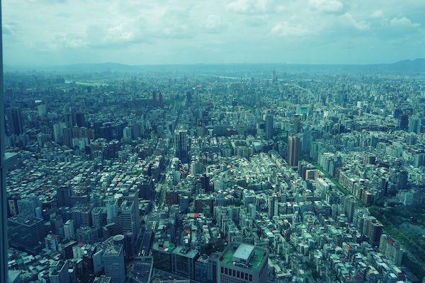 台北市街地の眺め。