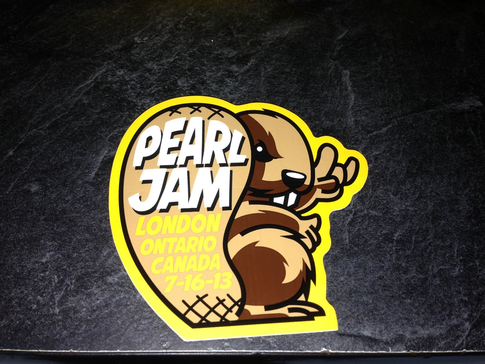 INSIDE THE ROCK POSTER FRAME BLOG Tonights Pearl Jam Poster From - Custom vinyl stickers london ontario
