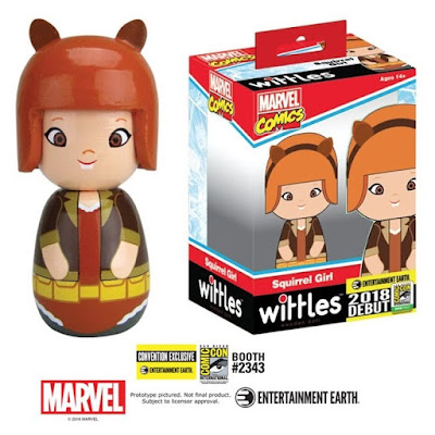 San Diego Comic-Con 2018 Exclusive Squirrel Girl Marvel Wittles Wooden Doll by Entertainment Earth