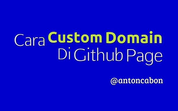 Cara Custom Domain Di Github Page