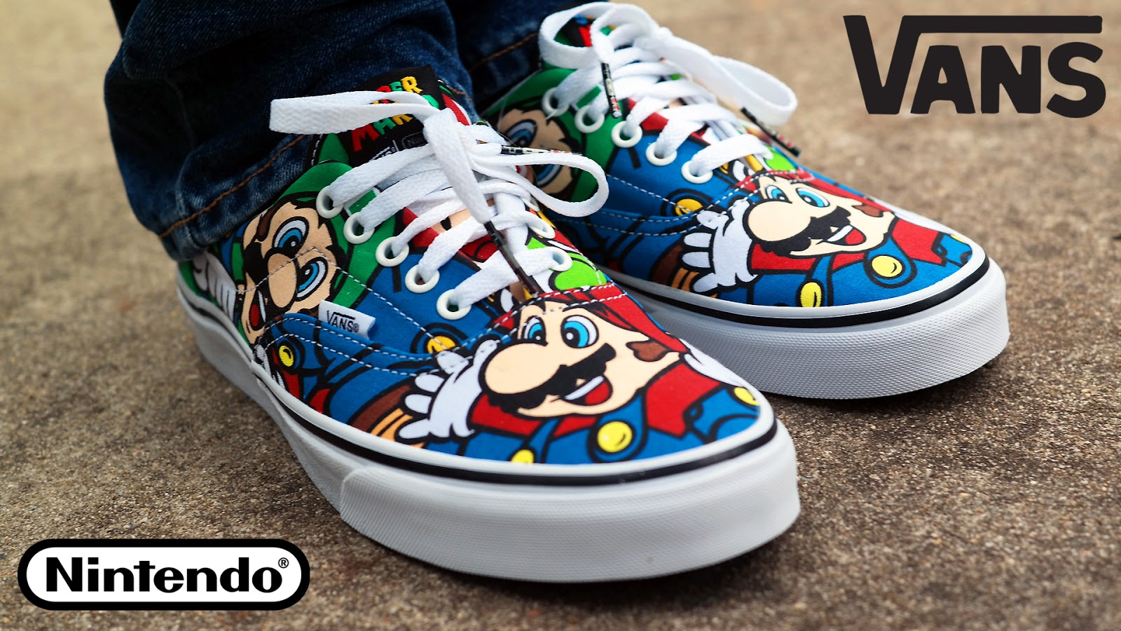 vans x nintendo collection era mario and friends skate shoe super mario vans