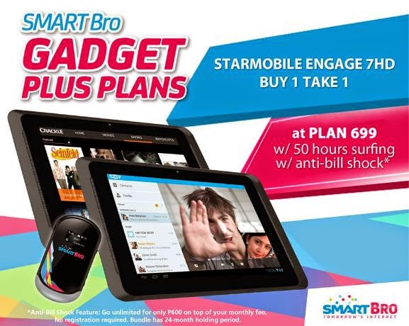 Buy 1 Take 1 on Starmobile Engage 7 HD at Smart Bro Gadget Plus Plan 699