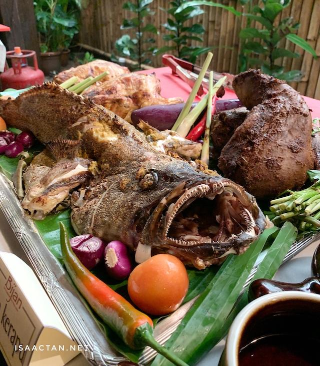 Ayam Golek, Ikan Kerapu and Roast Lamb