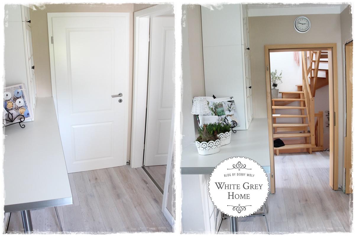 white grey home k che im juli vorher nacher. Black Bedroom Furniture Sets. Home Design Ideas