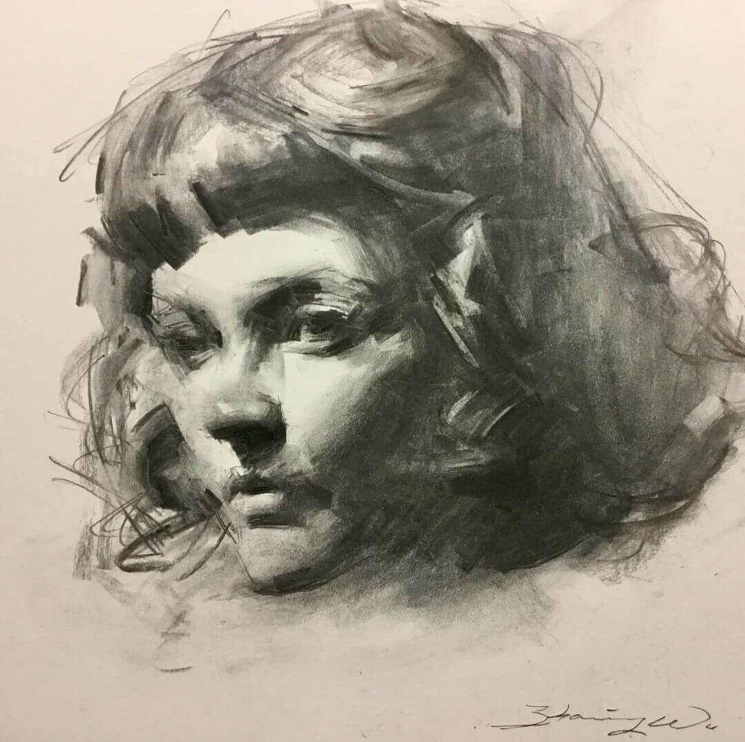 03-AAU-Student-Christine-Zhaoming-Wu-Black-and-White-Charcoal-Portraits-www-designstack-co