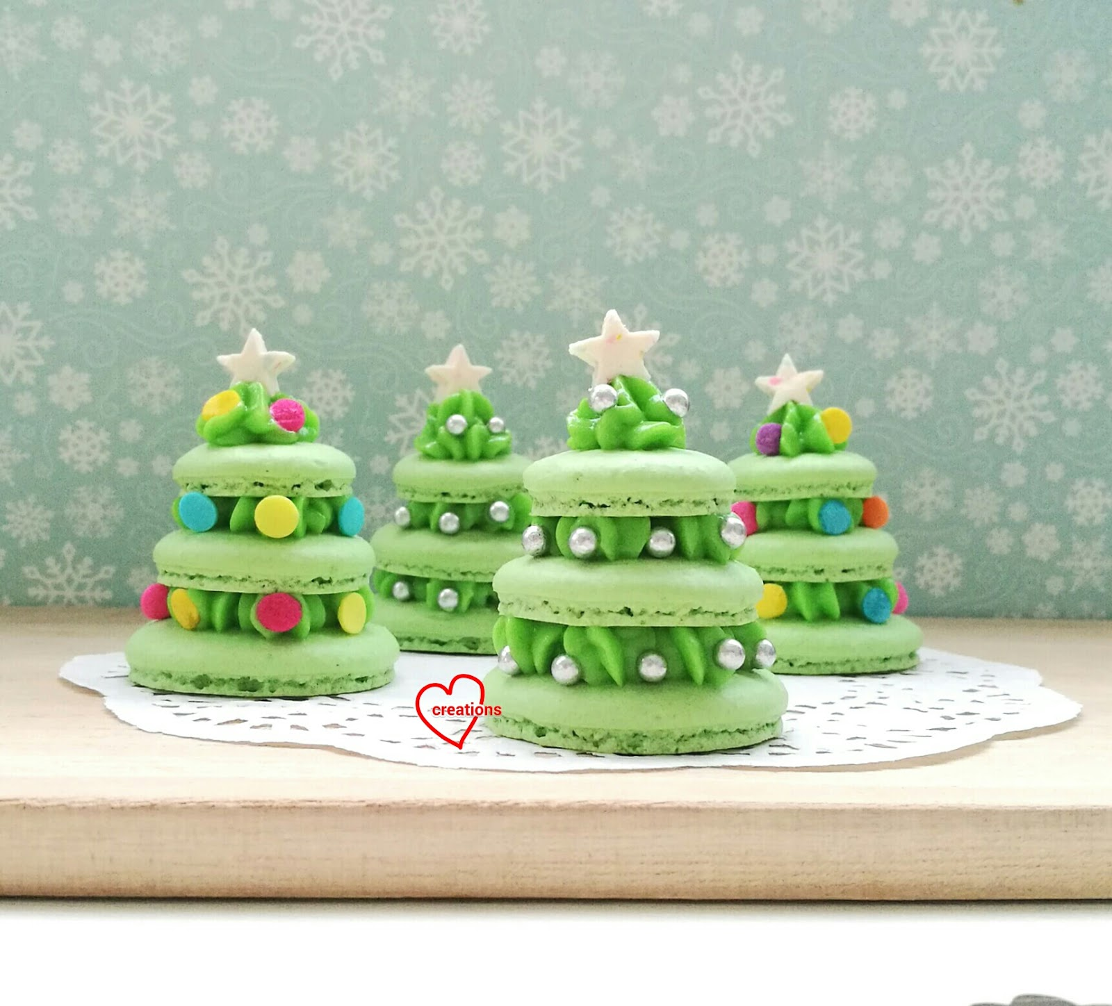 Christmas Macarons.Loving Creations For You Pandan Coconut Christmas Tree