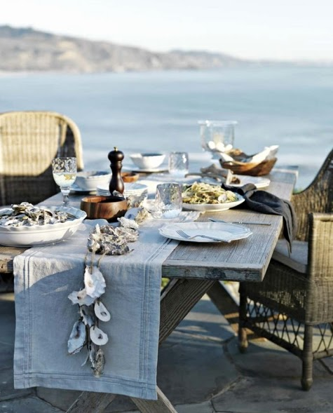 coastal outdoor entertaining