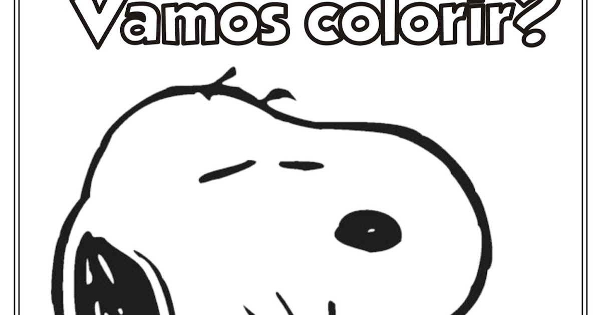 Desenho Do Snoopy Para Colorir