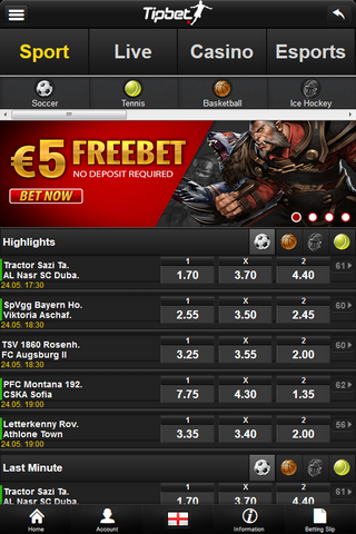 Tipbet Mobile Offers