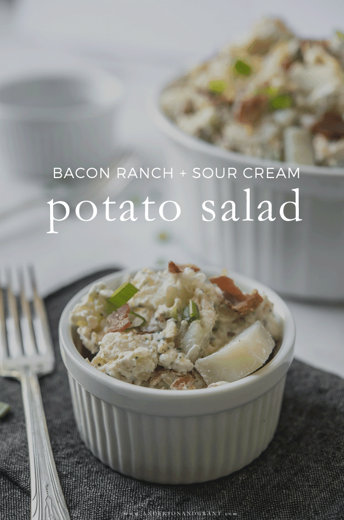 Bacon, Ranch and Sour Cream Potato Salad