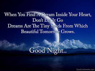 good night quotes in image with swwet dream wish