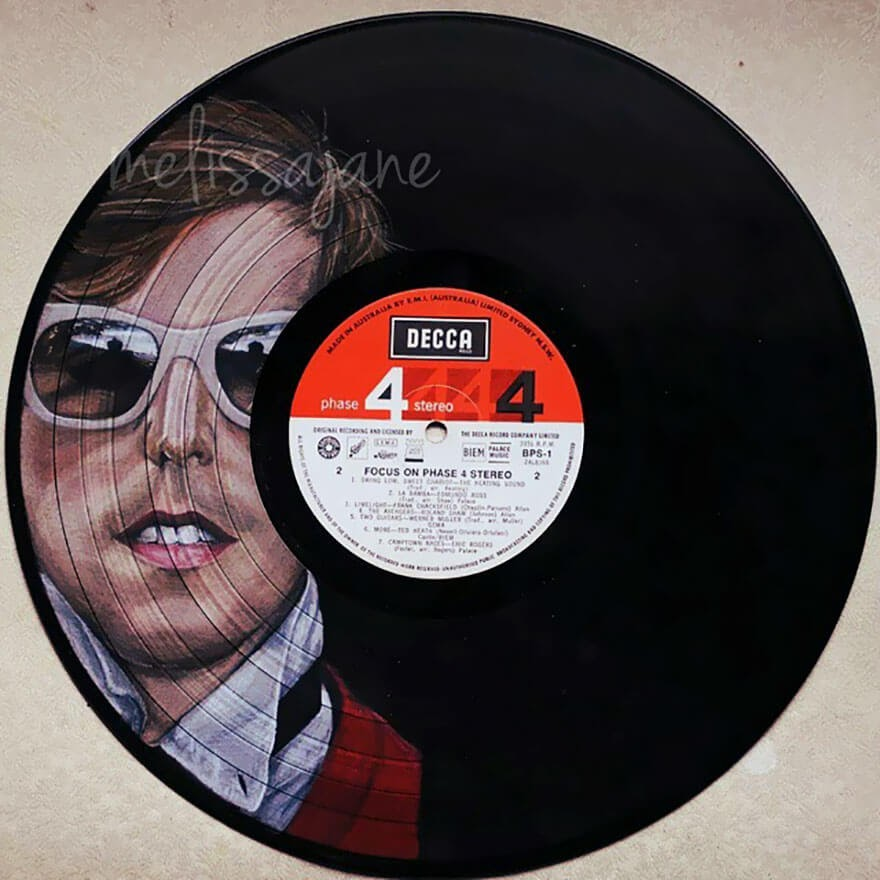 10-Andrew-Mcmahon-Melissa-Jane-Celebrity-Portrait-Drawings-On-Used-Vinyl-Records-www-designstack-co