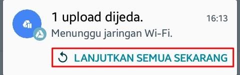 Upload ke Google Drive Tanpa Wifi - Cara Upload File ke Google Drive