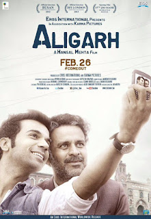 Aligarh, Movie Poster, Directed by Hansal Mehta, starring Manoj Bajpayee and Rajkummar Rao