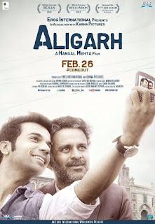 Aligarh, Movie Poster, Directed by Hansal Mehta, starring Manoj Bajpayee and Rajkummar Rao