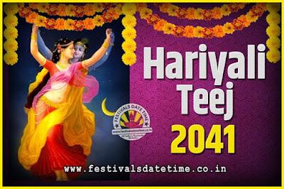 2041 Hariyali Teej Festival Date and Time, 2041 Hariyali Teej Calendar