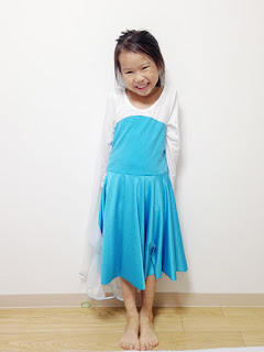 A twirl dress inspired by Elsa's dress.