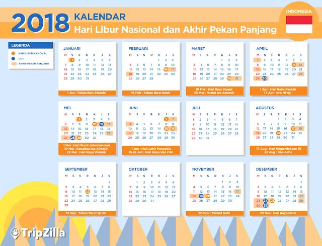 kalender cuti 2018