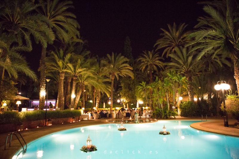 hotel huerto del cura boda noche