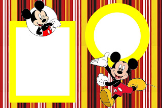 Inspired In Mickey Mouse Free Printable Party Invitations Red And Black