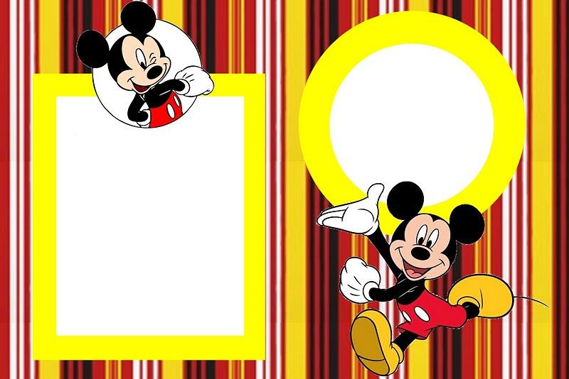 Tarjetas Para Imprimir Gratis De Mickey Mouse Con Fondos En