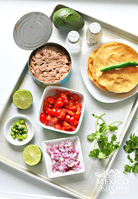 Canned Tuna Ceviche Tostadas
