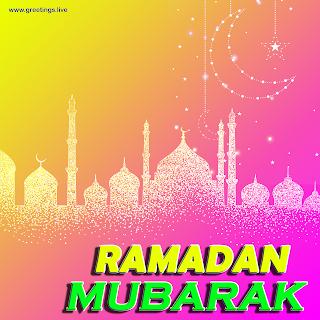 Ramadan mubarak sparkling moon mosque Images