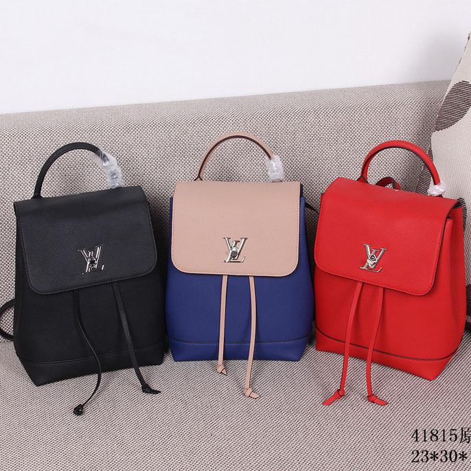 Spot new gucci bags  Louis Vuitton Soft Calfskin Lockme Backpack Bag ...
