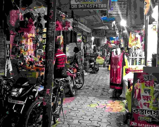 আসাম গন হত্যাকাণ্ডে হওয়া বন্ধের প্রভাব, পশ্চিমবঙ্গের কোচবিহার বাজারে