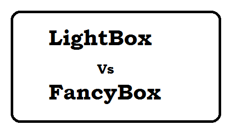 Lightbox vs Fancybox