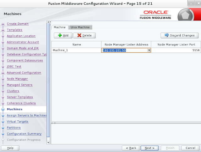 Weblogic domain creation step 15