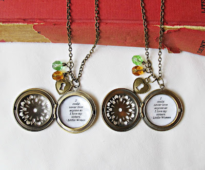 little women locket necklaces two cheeky monkeys quote i could never love anyone as i love my sisters