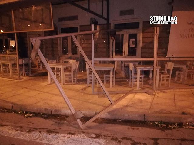Μεγάλες ζημιές από τον δυνατό αέρα στο Ναύπλιο (βίντεο)