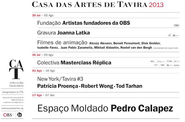 Casa das Artes - programa 2013 - cartaz
