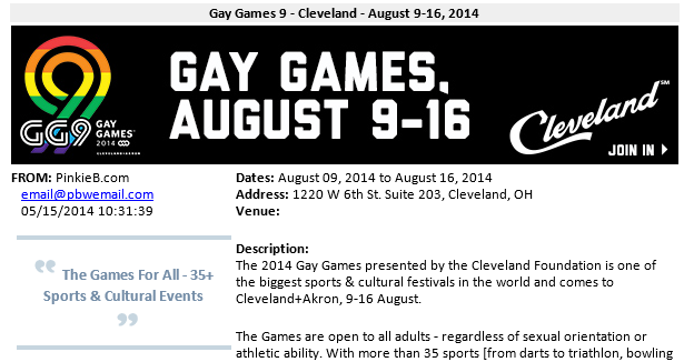 Anatomy of an Ad Buy - Gay Games 2014 - Cleveland