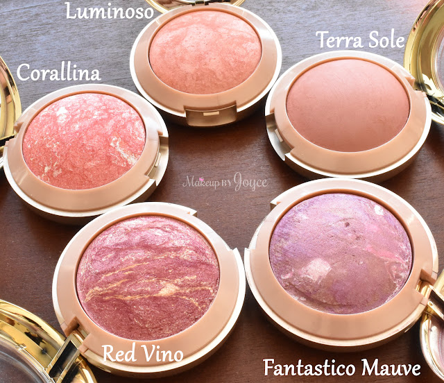 Milani Baked Blushes Swatches